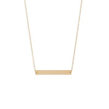 Classic Bar Necklace | More Colors Available