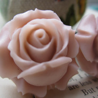 Plugs-Gauges-One Inch Antique Pink Roses- Pick Your size-Fits Up To 1 Inch Plugs