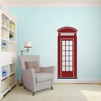 London Phone Booth - Vinyl Wall Art Decal for Homes, Offices, Kids Rooms, Nurseries, Schools, High Schools, Colleges, Universities, Events