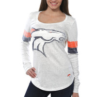 Denver Broncos Nike Women's Take it Long Long Sleeve T-Shirt - White