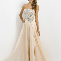 Sequin Bodice Sweetheart Neckline A-Line Skirt Prom Dress By Blush 9742