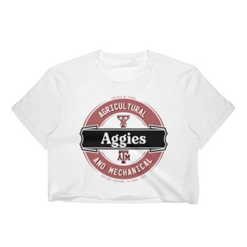 Texas A&M Aggies: Women's Lager Label-Inspired Crop Top