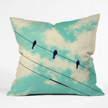 Shannon Clark Three Little Birds Throw Pillow