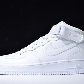 Nike Air Force 1 Fashion Women Men Casual High Help Sport Running Shoe Sneakers Pure White I