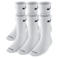 Nike Dri-FIT Cushion Crew Training Socks (Large/6 Pair) Size L