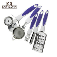 5 in 1 set Kitchen Cooking tools Stainless Steel  New Arrival Style High Quality 2015 Brand Cooking Tools Free Shipping HK849