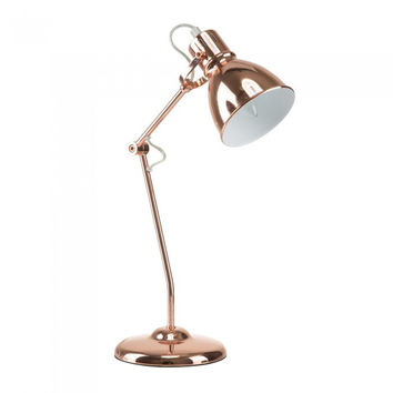 "Euro Style Collection Lyon 18"" Industrial Modern Table Lamp Copper"