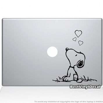 Snoopy in love vinyl decal for macbook or ipad by BestVinylDecal