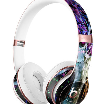 Inverted Abstract Colorful WaterColor Vivid Tree Full-Body Skin Kit for the Beats by Dre Solo 3 Wireless Headphones