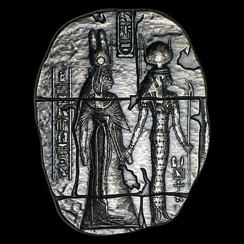 2 oz Hand-Poured Silver Relic Bar - Egyptian Goddesses