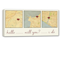 Map Art Custom YOUR place you met