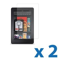 Clear Screen Protector with Cleaning Cloth for 7-Inch Kindle Fire - 2 Pack
