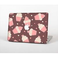 """The Pink Outlined Cupcake Pattern Skin Set for the Apple MacBook Pro 13"""""""