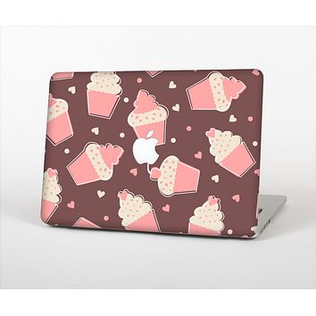 The Pink Outlined Cupcake Pattern Skin Set for the Apple MacBook Pro 13""