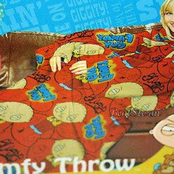 Licensed cool NEW Family Guy STEWIE Baby Comfy THROW Fleece Blanket Sleeves Snuggie Robe 48x71