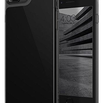 iPhone 8 Plus Case, / iPhone 7 Plus Case Caseology [Waterfall Series] Slim Clear Transparent Protective Air Space Technology for Apple iPhone 7 Plus (2016) / iPhone 8 Plus (2017) - Jet Black