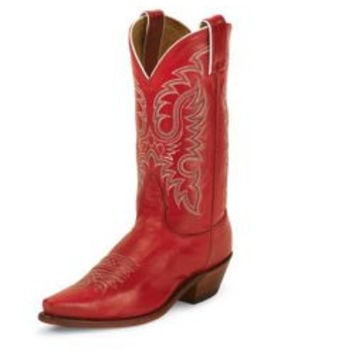 Nocona Ladies Snip Toe Red Soft Ice Boots