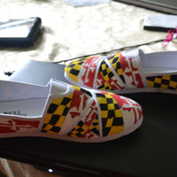 All-Over Maryland Flag Shoes