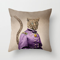 Grand Viceroy Leopold Leopard Throw Pillow by Peter Gross
