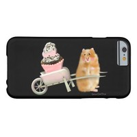 Funny iphone case, Hamster with cupcake