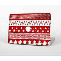 The Red and White Christmas Pattern Skin Set for the Apple MacBook Pro 13""