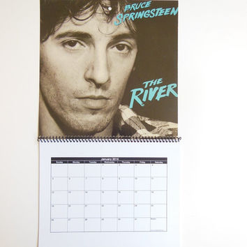 BRUCE SPRINGSTEEN Wall Calendar 2014 - Record Album Cover (The River)