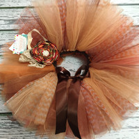 BABY GIRLS THANKSGIVING TuTu, Fall Flower Headband, Fall TuTu for Girls, Baby Girls Turkey TuTu, Girls Thanksgiving Headband, Pick & Choose