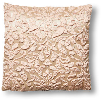 Poppy 18x18 Pillow, Champagne/Pink, Decorative Pillows