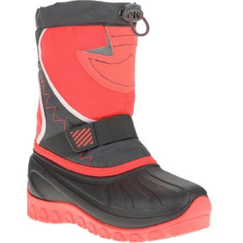 Ozark Trail Girls' Temp Rated Winter Boot, Gray/Coral, 7