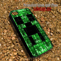 Creeper Minecraft Sabotagcase - Personalized Custom iPhone 4 4S iIPhone 5 5S 5C Samsung Galaxy S3 and S4 Accessories Case - 03Jan1422