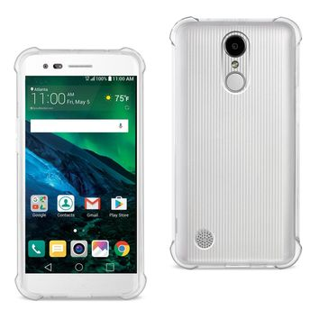 LG Fortune/ Phoenix 3/ Aristo Clear Bumper Case With Air Cushion Protection (Clear)