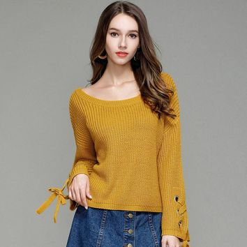 Laced Bell Sweater