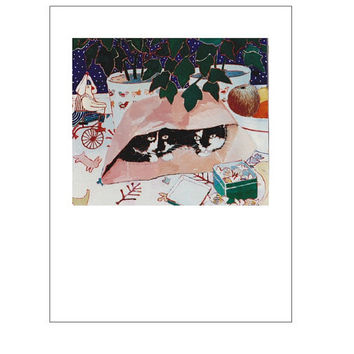Artists Blank Note Cards, Cat in Bag, Little Tin Man Riding Tricycle, Bowl of Fruit, Candy, Quilt
