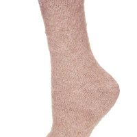 Rose Fluffy Boot Sock