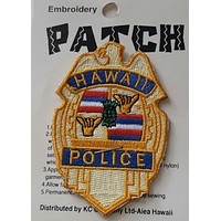 Embroidered Iron On Hawaii Police Shield Patch