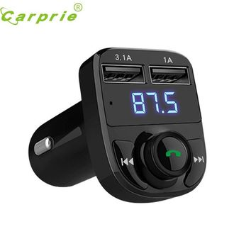 New Bluetooth Car Kit MP3 Player FM Transmitter Wireless Radio Adapter USB Charger nr2 dropshipping