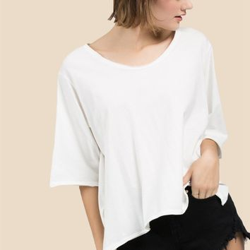 Elbow Tee - Ivory by POL Clothing