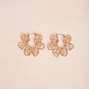 Kailee Gold Flower Earrings