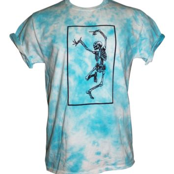 Dancing Skeleton Tie Dye Shirt