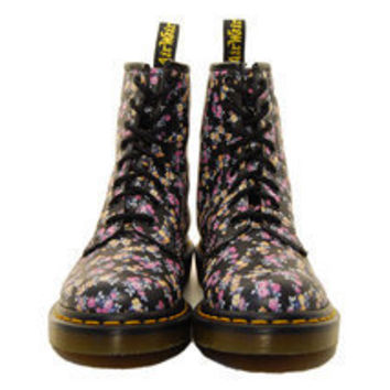 dr. martens 1460 8 eye mini tie dye floral print boot R11821010 | gravitypope