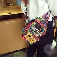Colorful Letters Print Fanny Pack