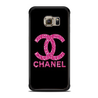 chanel glitter logo fashion Samsung Galaxy S6 Edge Cases