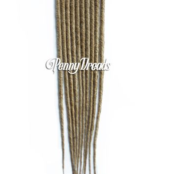 Dirty Blonde Single Ended Synthetic Dreadlock Extensions 20""