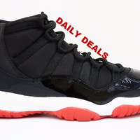 Air Jordan 11 Retro Bred 2001 Basketball Shoes <>