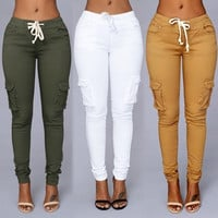 Fashion Women's Waist Slim Pencil Jeans - 4 Colours