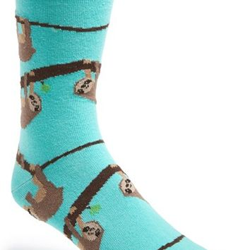 Men's Topman Sloth Pattern Socks - Blue