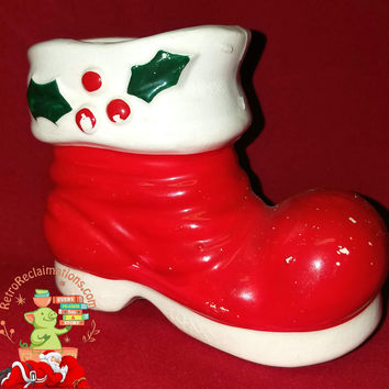 Vintage Holiday-Holt Howard-Santa-candy cane-boot-1959