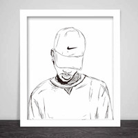 Bryson Tiller Art Poster (6 sizes) // madness pen griffey trapsoul