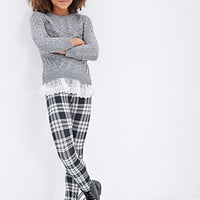 Layered Lace Cable Knit Sweater (Kids)