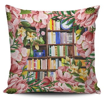 Cozy Library Nook Pillow Cover